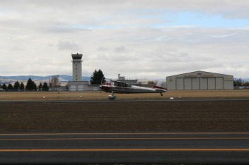 First take-off on runway 11-29 by Tim Linn